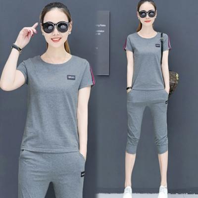 【韓國K.W.】(預購)英倫學院優雅運動套裝褲-3色