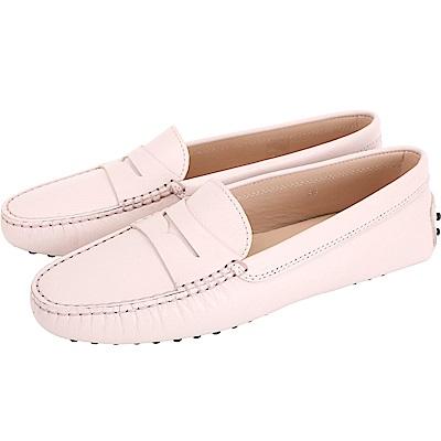 TOD'S Gommino 防刮牛皮豆豆休閒鞋(女鞋/柔粉色)