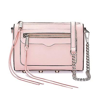 REBECCA MINKOFF AVERY 粉色銀鍊真皮側背包/斜背包