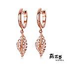 蘇菲亞SOPHIA - 印第安葉子玫瑰金鑽石耳環