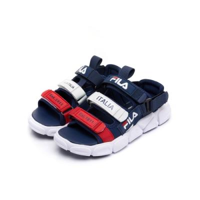 FILA KIDS 大童MD運動涼鞋-丈青 3-S411U-123