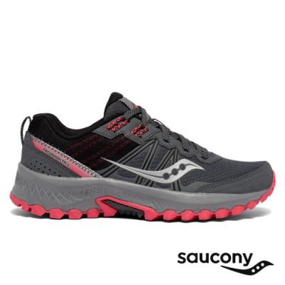 【Saucony】女 EXCURSION TR14 入門款全地型越野跑鞋(炭黑珊瑚-SCS10584-5)