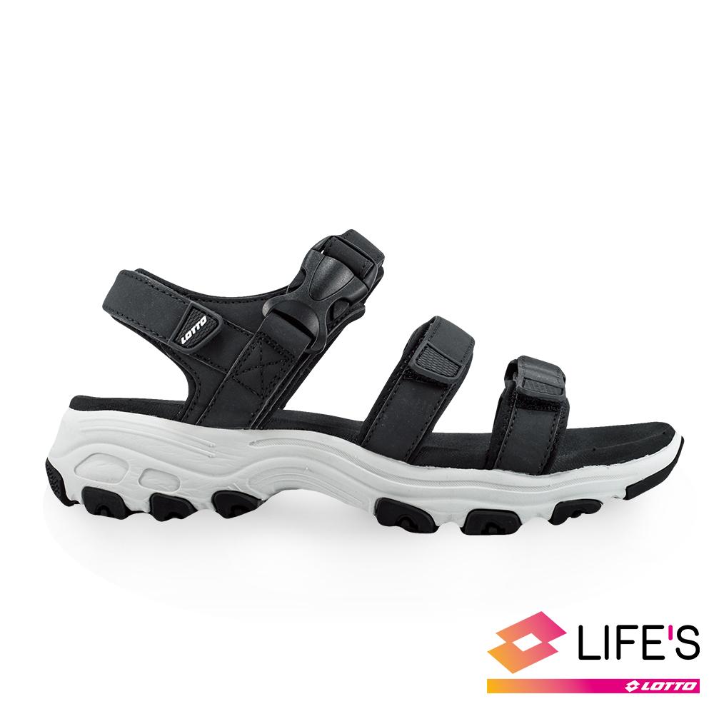 LOTTO 義大利 女 增高厚底美鞋 (黑)