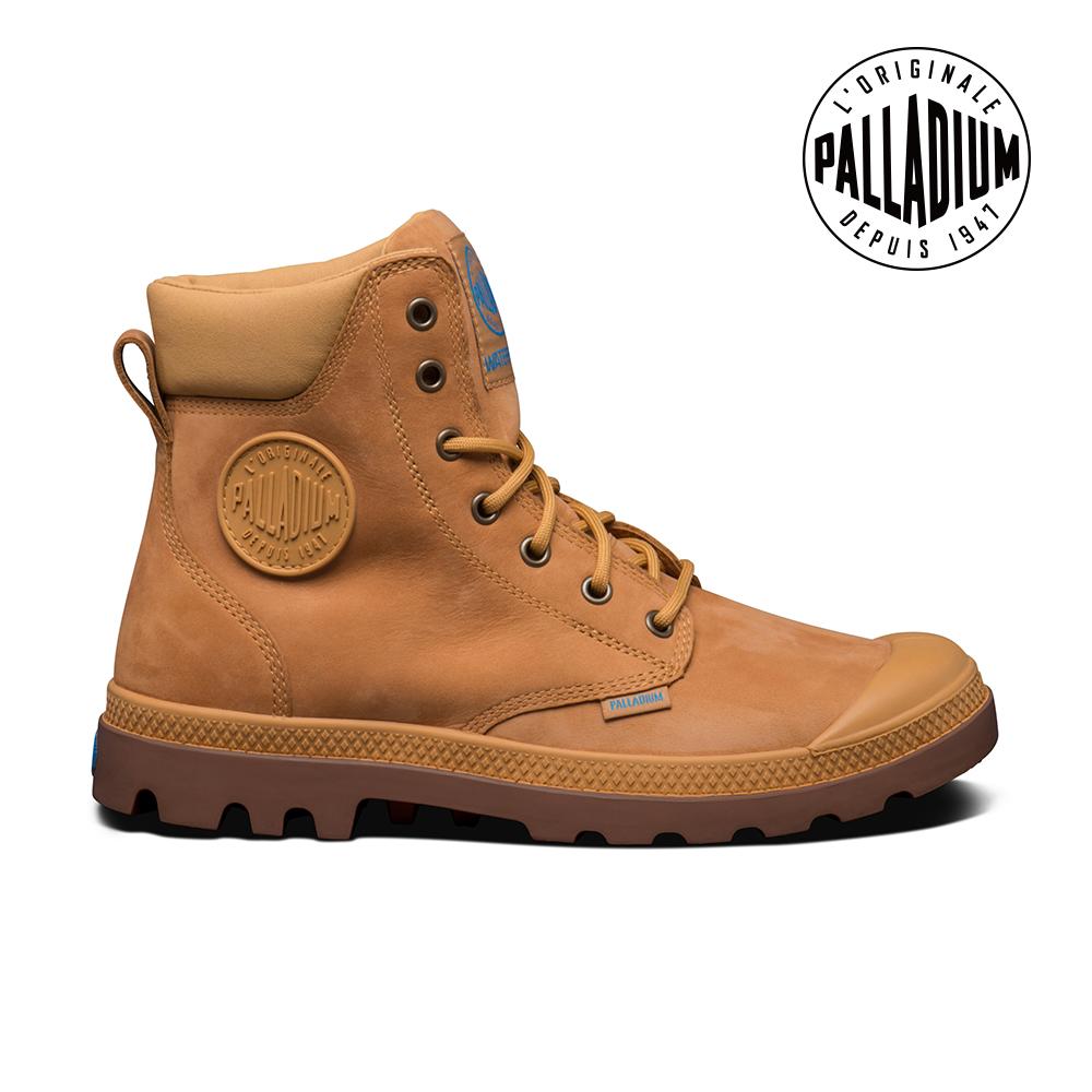 Palladium Pampa Cuff WP Lux防水靴-男-棕/焦糖