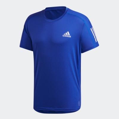 ADIDAS 上衣 短袖上衣 運動 訓練 慢跑 健身 男款 藍 FS9800