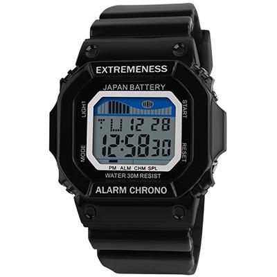 SKMEI 時刻美6918-青春活力多功能果凍電子錶(2色任選)