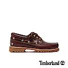 Timberland 男款酒紅色手工縫製經典三孔帆船鞋 | 50009