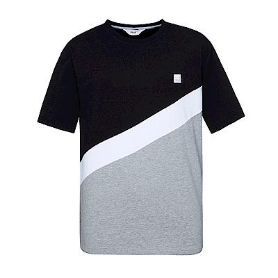 FILA #東京企劃 純棉圓領T恤-黑1TES-1409-BK