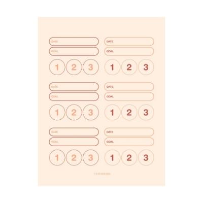 7321 Design 功能便條紙本-3日追蹤表