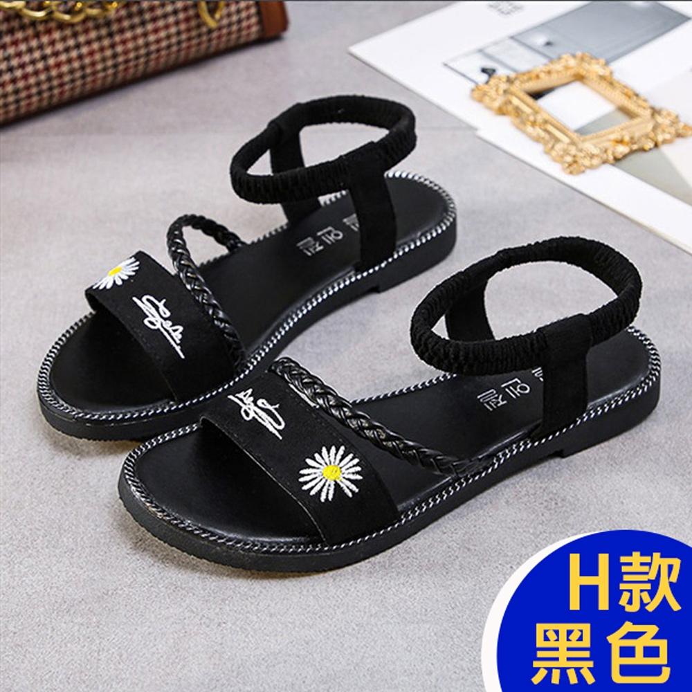[KEITH-WILL時尚鞋館]-(預購)百萬網友熱情推薦懶人鞋涼鞋涼跟鞋穆勒鞋 (H款-黑)