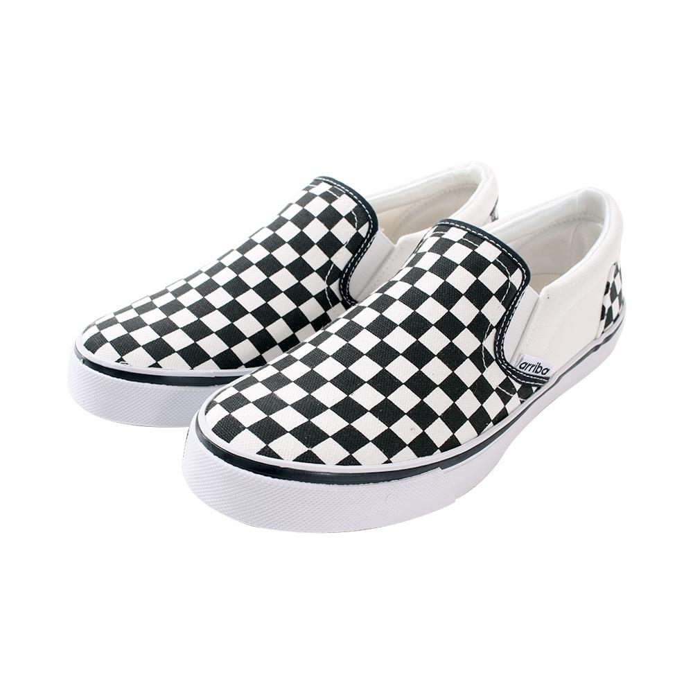 魔法Baby 女鞋 台灣製時尚潮流菱格紋帆布鞋sd7239