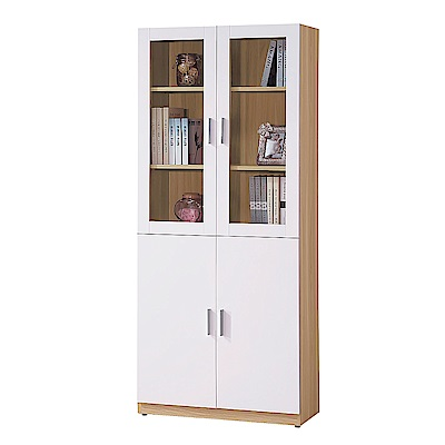 AS-金吉斯2.7尺四門書櫃-80x32x183cm