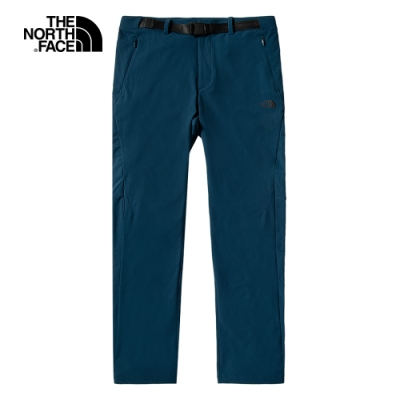 The North Face北面男款藍色防潑水戶外徒步褲|4UANBH7