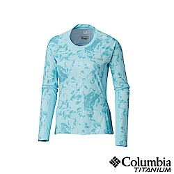 Columbia 哥倫比亞女款-鈦50涼感快排抗曬長袖上衣-藍色 UAR26510