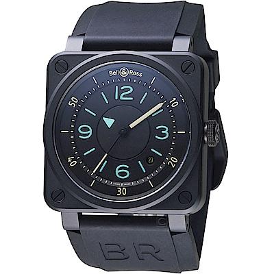 Bell & Ross經典飛行陶瓷機械錶(BR0392-IDC-CE/SRB)