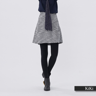 【KiKi】氣質風顯瘦-短裙(二色)