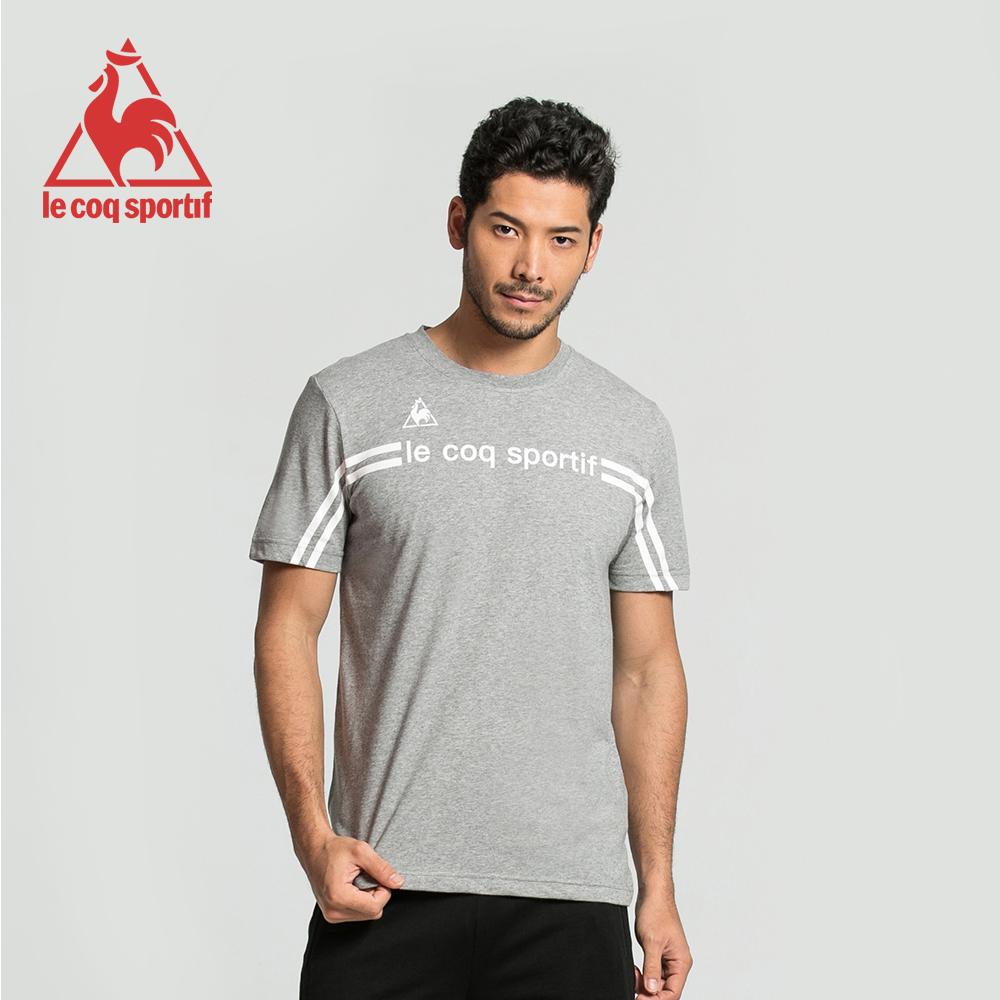 le coq sportif 法國公雞牌運動潮流圓領短袖T恤 男-灰