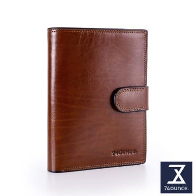 74盎司 Maroon馬鞍皮護照夾[N-588-MA-M]咖