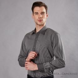ROBERTA諾貝達 進口素材 台灣製 商務型男 細條紋長袖襯衫 灰色