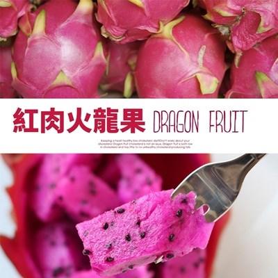 【甜露露】紅肉火龍果8斤入約7-11顆