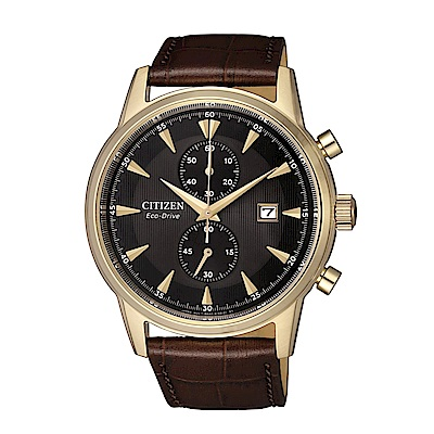 CITIZEN 紳士急速三眼計時光動能腕錶/原廠公司貨二年保固 Eco-Drive光動能