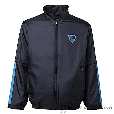ROBERTA諾貝達 台灣製 輕量保暖 防潑水可拆袖機能夾克外套  黑色