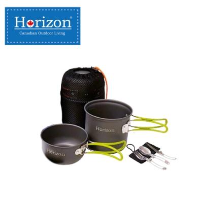 【Horizon 天際線】輕量化野營鍋餐具五件組 春芽綠