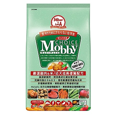 莫比Mobby 雞肉&米 小型幼母犬專業配方 3KG 兩包組