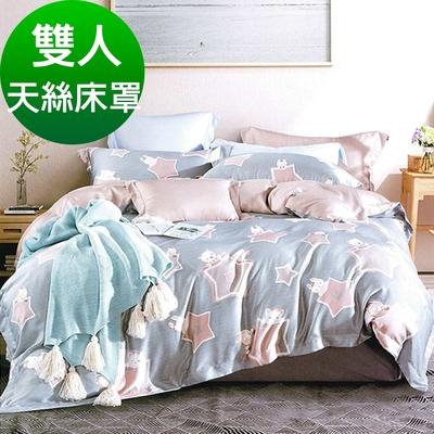 Saint Rose頂級精緻100%天絲床罩八件組(包覆高度35CM)-星月熊 雙人