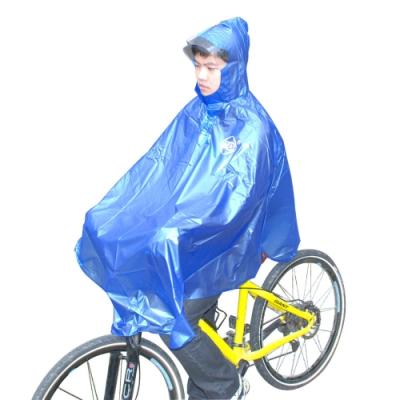 索樂生活 連身全罩斗帳篷式自行單車雨衣.立體式加寬帽沿防風防掀耐刮自行車騎行斗篷雨衣