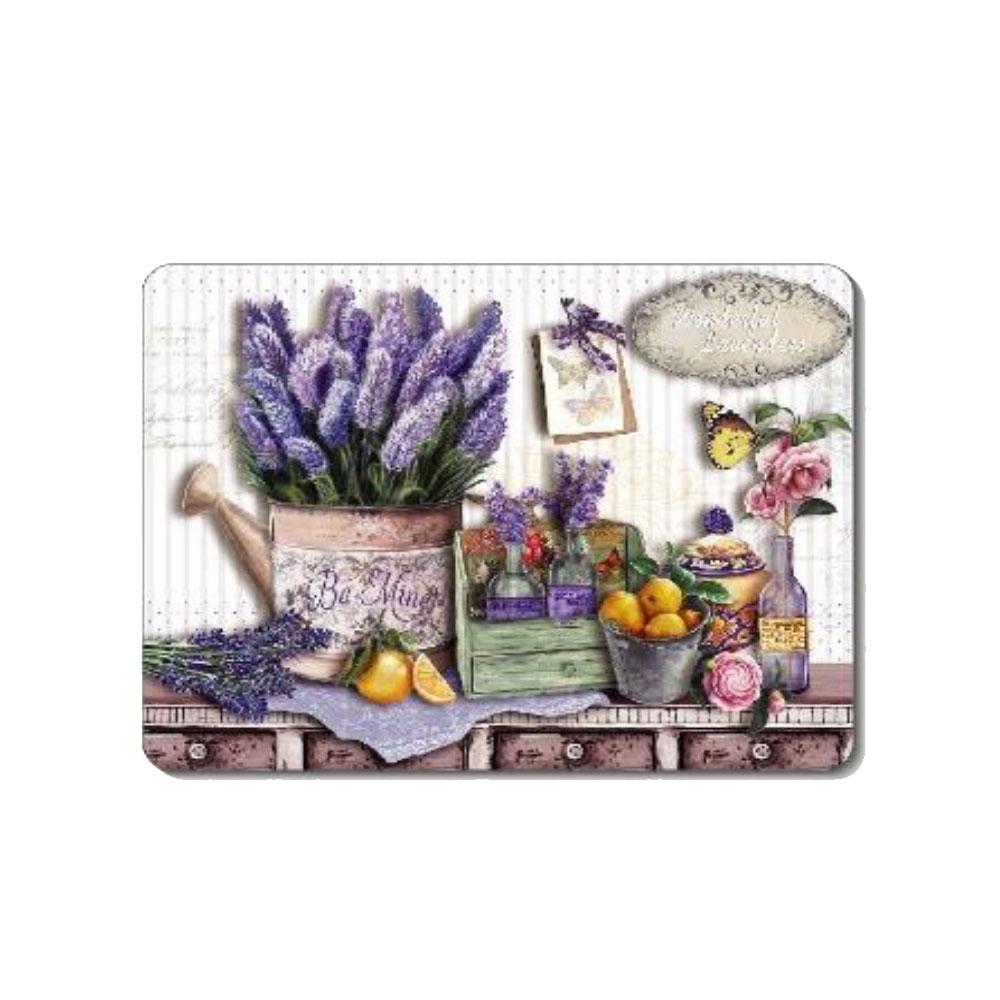 進口軟木塞大餐墊29*43cm-淡紫花藝(1入)