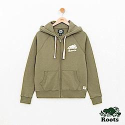 Roots -女裝- 經典連帽外套- 綠