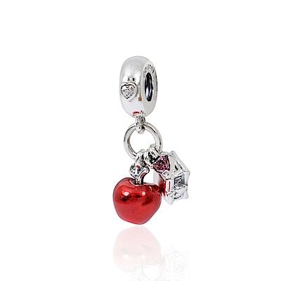 Pandora 潘朵拉 迪士尼系列 白雪公主之心與琺瑯蘋果 垂墜純銀墜飾