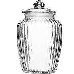 《KitchenCraft》菊花紋復古玻璃密封罐(2200ml)