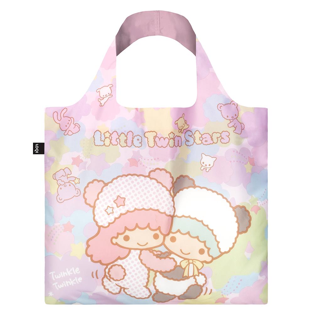 LOQI 購物袋-三麗鷗授權 (雙子星 熊貓 TS03)