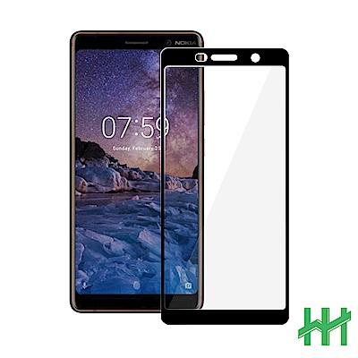 鋼化玻璃保護貼系列 Nokia 7 Plus (6吋)(全滿版黑)