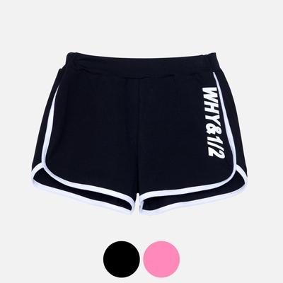 WHY AND 1/2 LOGO棉質萊卡短褲 多色可選 5Y ~ 10Y