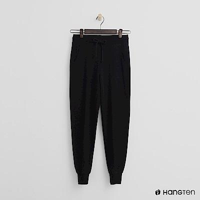 Hang Ten - 女裝 - 後口袋印字束口褲-黑