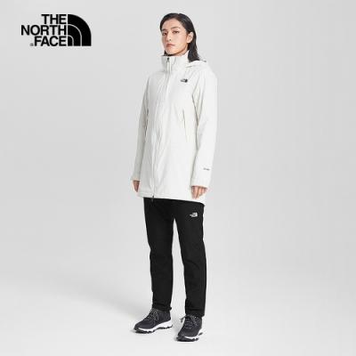 The North Face北面女款黑色防水透氣保暖衝鋒褲|4NALJK3