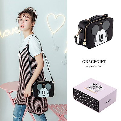 Disney collection by grace gift-米奇大頭兩用方包