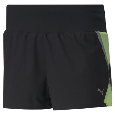 PUMA-女性慢跑系列Lite 3吋短風褲-黑色-歐規