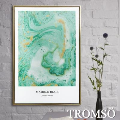 TROMSO北歐時代風尚有框畫-碧綠湖潮WA143