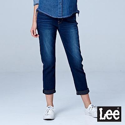 Lee 401 九分中腰合身小直筒牛仔褲/RG-中深藍