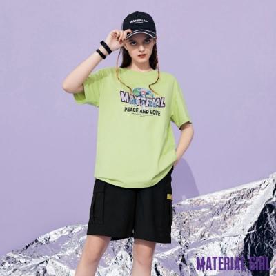 MATERIAL GIRL 復古地球和平與愛的風格印花上衣【20秋季款】-A3309