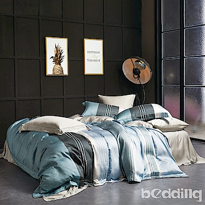 BEDDING-正60支100%天絲6x7尺特大雙人八件式兩用被床罩組-尼蒂羅TENCEL