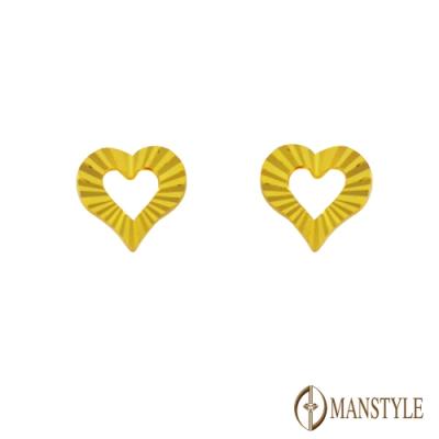MANSTYLE 專一 黃金耳環 (約0.49錢)