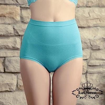 塑褲 萊卡環型塑腰彈力蠶絲塑褲-藍 La Queen