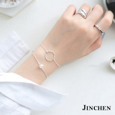 JINCHEN 純銀小圓圈手鍊