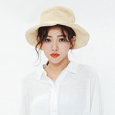 H:CONNECT 韓國品牌 蝴蝶結編織草帽
