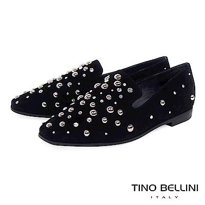 Tino Bellini 搶眼焦點全真皮樂福鞋 _ 黑